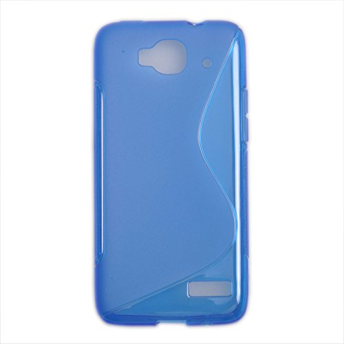 Einzige Colorful Soft Gel Flexible 4 in 1 S-Line TPU Silicone Case Cover for Alcatel One Touch Idol Mini 6012D with Free Universal Screen-stylus (Blue & Rose & Purple & Red)