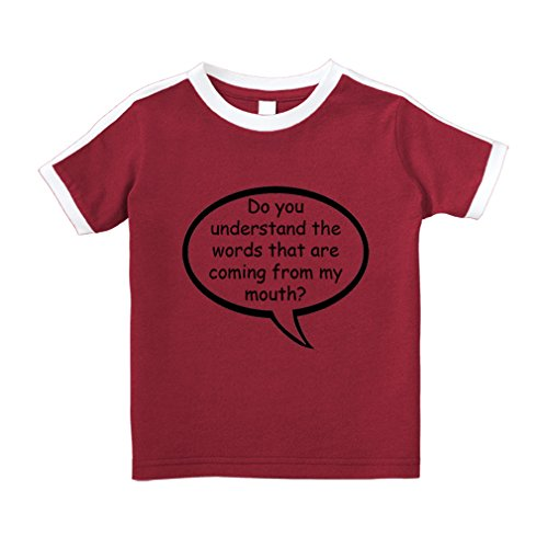 Cute Rascals Understand words That Coming From Mouth? Cotton Short Sleeve Crewneck Unisex Toddler T-Shirt Soccer Tee - Red, 4T