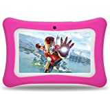 Tablet for Kids,Android 7.0 Quad-Core 7inch Eyes-Protection Touchscreen Kids Tablet with WiFi Bluetooth Google Play Store Children's Games & Educational Apps Pre-Installed,8GB Storage (Pink)