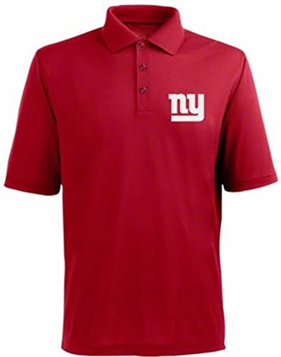 New York Giants NFL Team Apparel Dri Fit Polo Golf Shirt Red Big & Tall Sizes (XL)