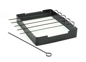 Charcoal Companion Non-Stick Kabob Rack with Six Skewers - CC3032