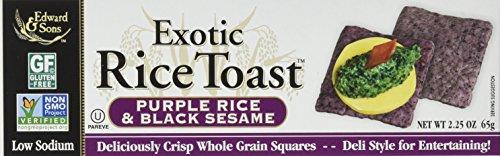 - Edward & Sons Exotic Rice Toast? Purple Rice and Black Sesame -- 2.25 oz - 2 pc
