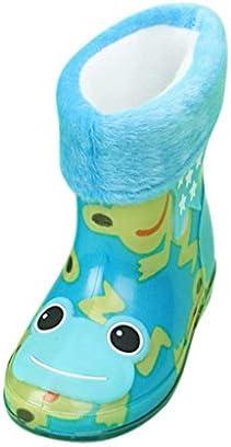 レインブーツ 防水 漫画の動物 プラスベルベット 男の子 女の子 Jopinica 可愛い 軽量通気 滑り止め 子供用 カジュア