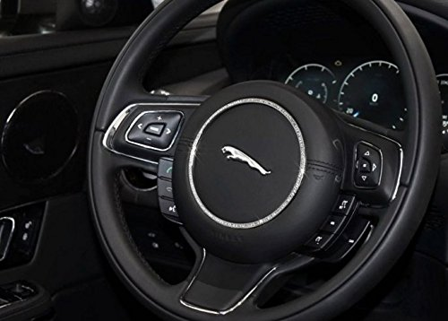 Eppar New Steering Wheel Decorative Cover for Jaguar XJ 2012-2016 (Silver) by Eppar