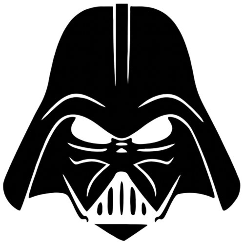 NI680 Darth Vader Face Decal | 5.5-Inches Wide | Premium Quality Black Vinyl Decal (Darth Vaders Face)