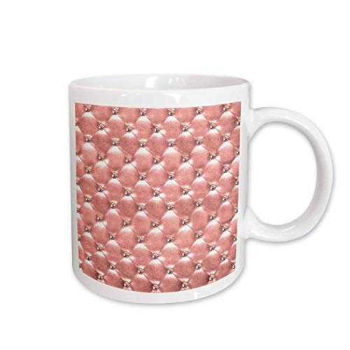 - 3dRose Anne Marie Baugh - Patterns - Pretty Pink Image Of Quilted Image Of Jeweled Diamond Shapes Pattern - 15oz Two-Tone Yellow Mug (mug_316270_13)