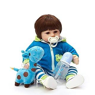 HOOMAI Reborn Baby Doll Soft Simulation Silicone Vinyl Cloth Body 18inch 45cm Lifelike Vivid Boy Girl Toy for Ages 3+