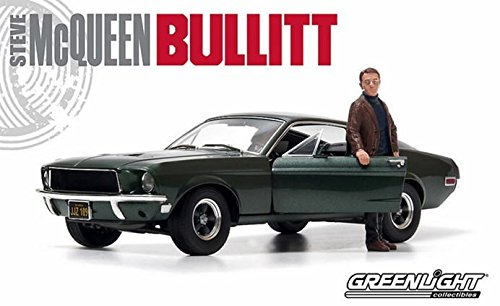 1/18 1968 Ford Mustang GT Fastback(ハイランドグリーン) with Steve McQueen figure「ブリット/HOLLYWOOD SERIES」 12885