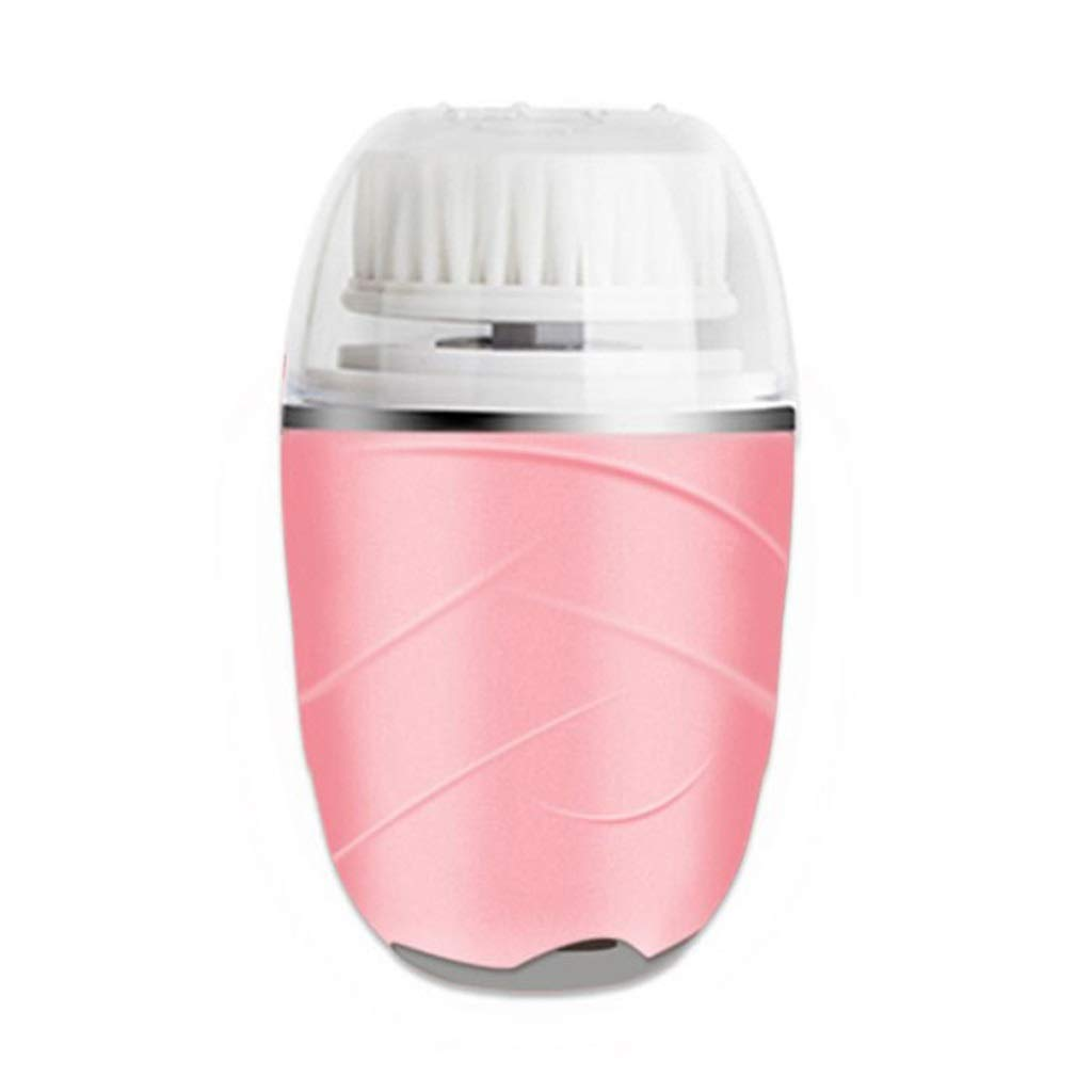 I want to fly freely Cleansing Instrument Wash Face Facial Massage Beauty Soft Hair Wash Artifact Electric Deep Pore Cleaner (Color : Pink) by I want to fly freely