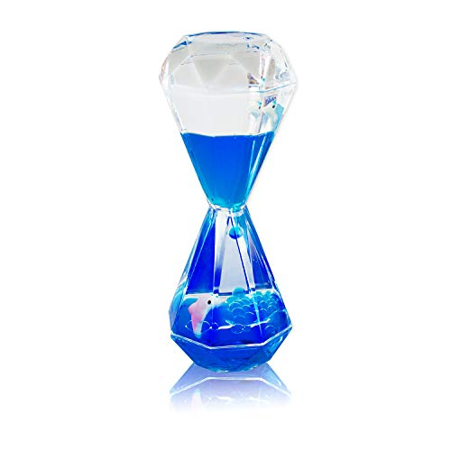 Colorful Liquid Motion Bubbler Desk Sensory Toy Timer Floating Marine Life Animals for Play, Fidgeting, Captivating Distraction by Super Z Outlet (Dolphin)