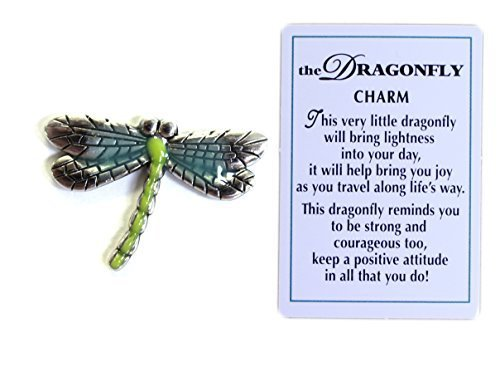 The Dragonfly Charm of Spirit with Story Card!,Turquoise, Green, Gray - http://coolthings.us