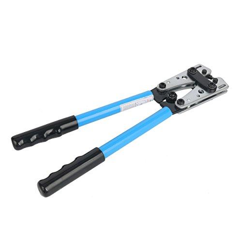 Yaetek Cable Crimper Cable Lug Crimping Tool Wire Crimper Hand Ratchet Terminal Crimp Pliers Wire Terminal Crimping Tool 6-50mm² Cable Lug Crimper Cu/Al Terminal for 10, 8, 4, 2, 1/0 AWG Wire Cable by YaeTek (Image #3)