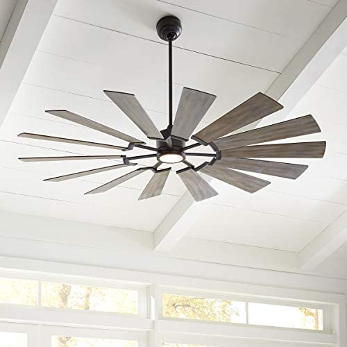 Monte Carlo Fans 14PRR72AGPD Prairie Grand Windmill Energy Star 72″ Outdoor Ceiling Fan