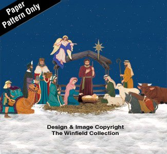 75ffd3cf72911 Amazon.com  Complete Life-size Nativity Pattern Set  Arts