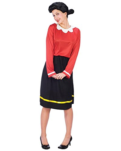 Plus Size Theatre Costume Olive Oyl Costume Popeye Comic Book Couples Costume Sizes: One Size