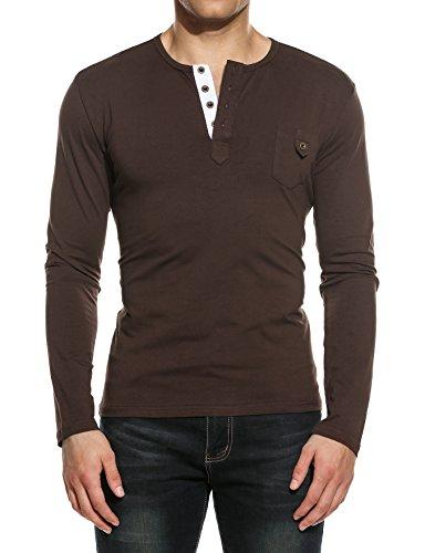 Hotouch Men's Unisex Poly-Cotton Raglan T-Shirt Brown XL