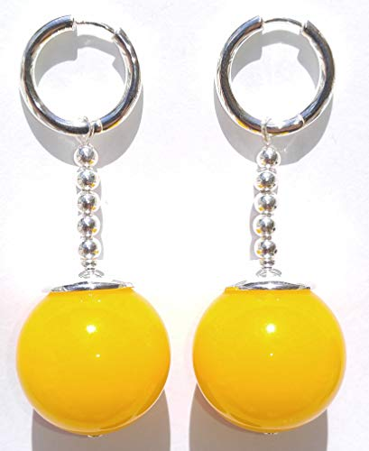 TamaShop Full Size Yellow Jade Potara Earrings - Dragon Ball Z Anime Cosplay Costume Accessories