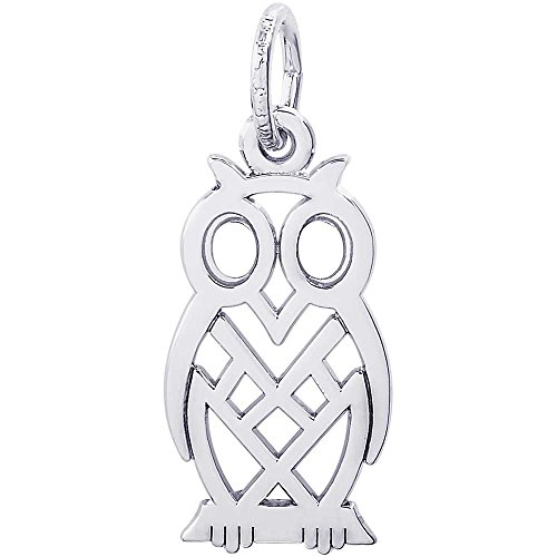 Rembrandt Owl Bird Charm - Rembrandt Charms Owl Charm, Sterling Silver