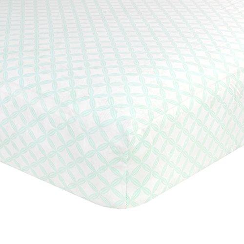 Just Born Cotton Fitted Crib Sheet, Hampton Sea (Hampton Stores)