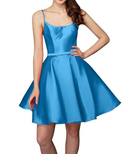 Brau Kleider Heimkehr Traeger Spaghetti Abendkleider La Blau Mini mia Cocktailkleider Tanzenkleider Kurzes Satin Partykleider Cx7xtw5EPn