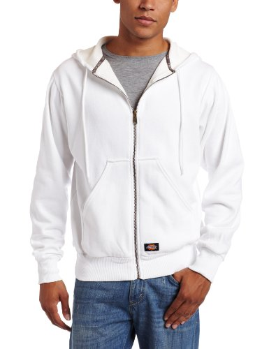 Dickies - - Tw382 Thermal Lined Hooded Fleece Jacket, Medium, White