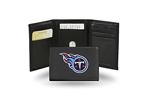 Tennessee Titans Embroidered Logo Genuine Leather Tri-Fold Wallet