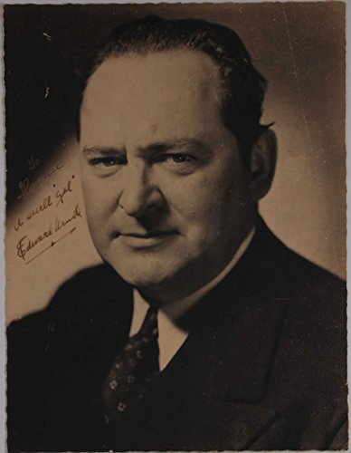 (Edward Arnold (d. 1956) Signed Autographed Vintage 7x9 Photo - COA Matching Holograms)