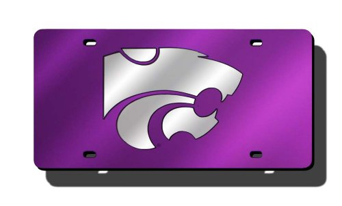 NCAA Kansas State Wildcats Laser Inlaid Metal License Plate Tag
