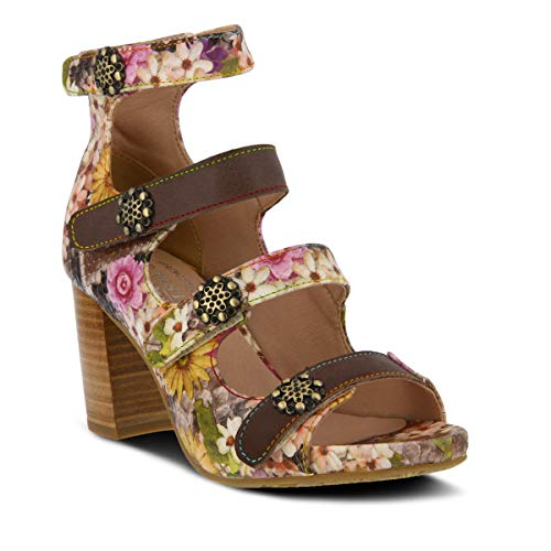 LARTISTE Womens Agatiala Leather Ankle Strap Sandal