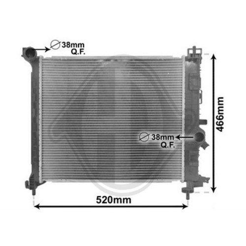 Diederichs DCM2706 Radiator, radiator: