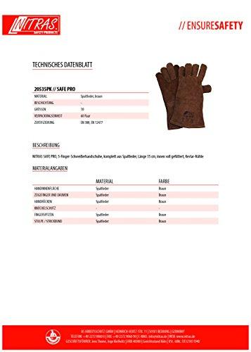 Barbacoa Guantes, Back Guantes Guantes de horno, 1 par de guantes piel Barbacoa para fumadores, del Horno & Outdoor Barbacoa - Marrón: Amazon.es: Jardín