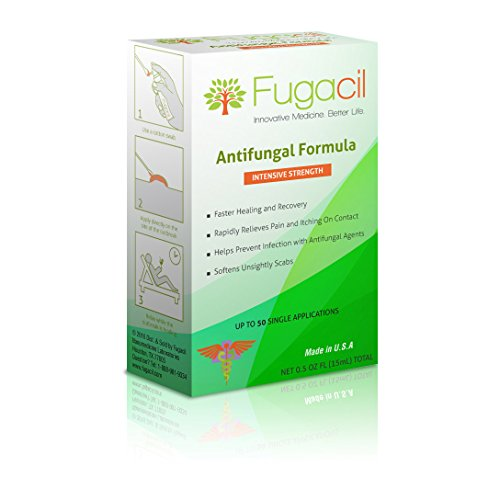 Fugacil Anti-Fungal Nanomedicine Cream with All-Natural Ingredients, including Tea Tree. For Ringworm, Athlete's Foot, Jock Itch, Toenail Fungus, Fungal Infections, 0.5oz.