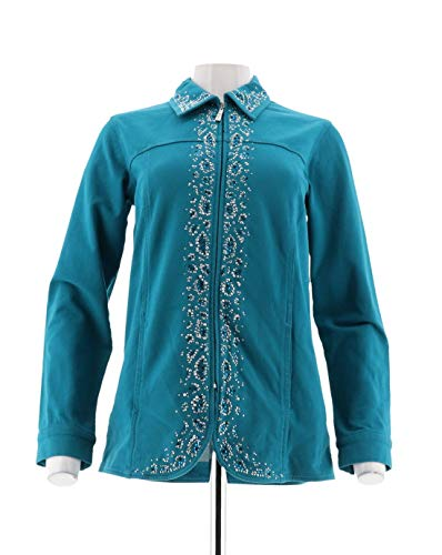 Quacker Factory DreamJeannes Jacket Rhinestone A236000, for sale  Delivered anywhere in USA