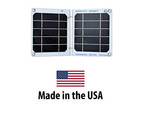 Suntactics sCharger-5 Portable Solar Charger, Very High Qual