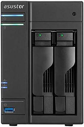 Asustor AS6302T, Unidad de Almacenamiento NAS, DDR3 de Doble Núcleo Conectado a la Red, 2GB RAM, Negro