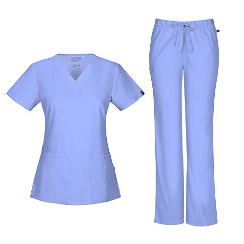 Scrubs Cherokee Workwear Tall Flare Drawstring Pant 44101AT CIEW Ciel