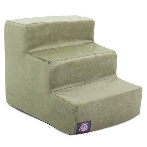 3 Step Sage Green Suede Pet Stairs By Majestic Pet...