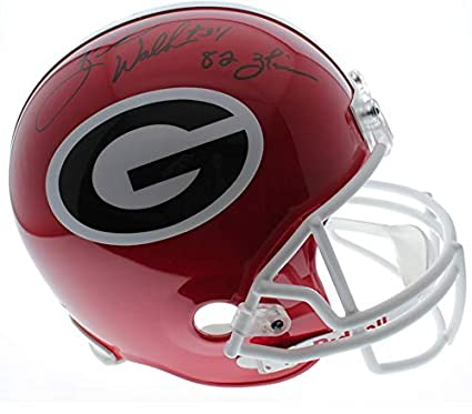 5f61d2f4b Herschel Walker Georgia Bulldogs Autographed Signed Riddell Full Size  Replica Helmet with 82 Heisman Inscription w
