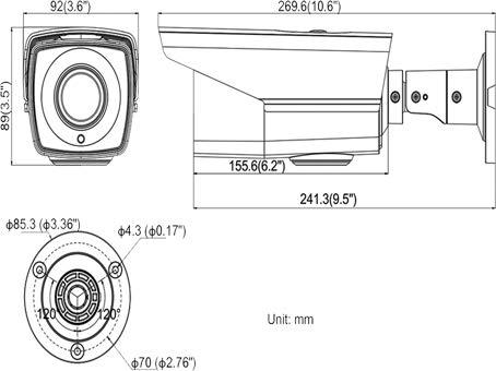 HIKVISION OEM AC344D-VB4Z,Analog Camera,Starlight HD-TVI 1080P Turbo HD Outdoor Motorized Vari-Focal Dome Camera,2.8-12mm Motorized Zoom Lens,BNC Connection