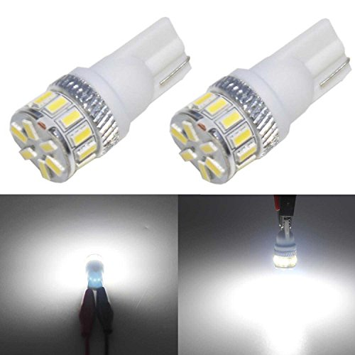 JDM ASTAR Extremely Bright 3014 Chipsets 194 168 2825 W5W T10 New Style LED Bulbs,Xenon White ( Interior Use Only)
