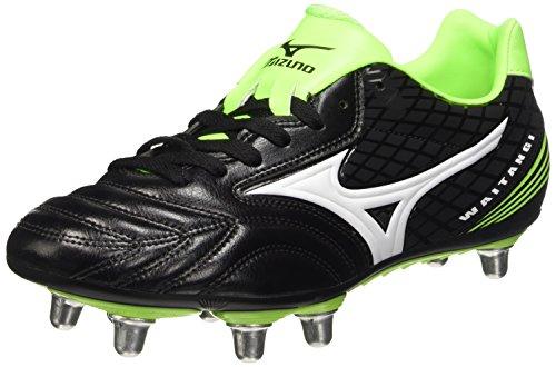 MizunoWaitangi Ps - Zapatillas de rugby hombre Negro (Black (Black/White/Green Gecko))