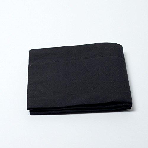 Drap housse 57 fils/cm² 140 x 190 cm Noir Black