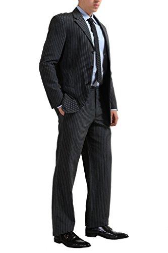 Armani Collezioni Men's Three Button Silk Linen Suit US 38R IT ()
