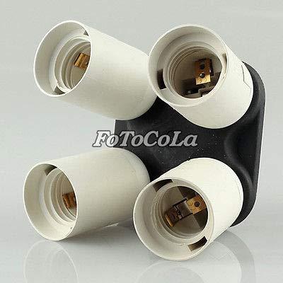 FidgetFidget Studio Photo Adapter Holder with Ports f Four 4 Continuous Light Bulb E27 4in1 by FidgetFidget (Image #4)