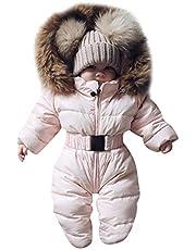 Jueshanzj Unisex snödräkt för bebis,spädbarn varm vinter sparkdräkt huvtröjor jumpsuit