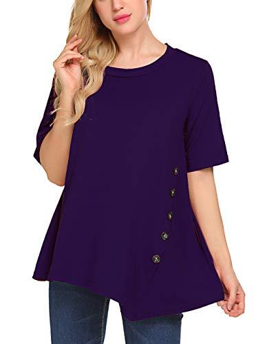 Plus Size Dress Up - Sweetnight Women's Casual Scoop Neck Short