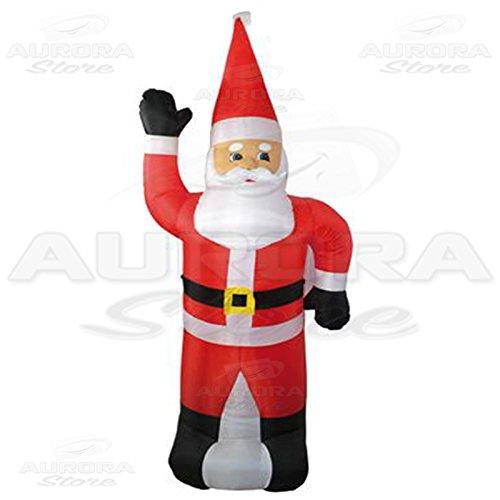 Papá Noel hinchable con luz, de 120 cm, para árbol o muñeco ...