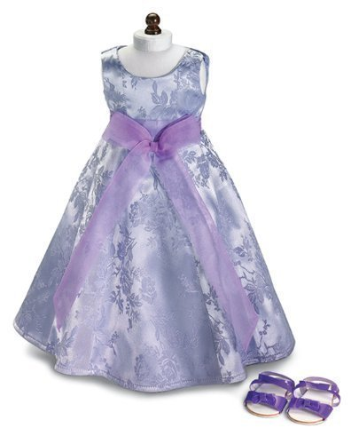 Lavender Party Doll Dress & Sandals, Fits 18