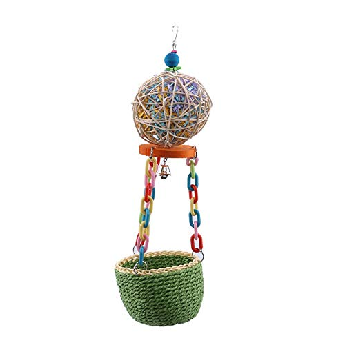 Bird Toys - 1pc Bird Chew Toy Parrot Parakeet Budgie Cockatiel Cage Perch Hanging Swings Colorful Swing - Shoes Parakeets Sticks Under Pack That Talking Outside Seagrass Prime African Mimic Bu by BizAmzz