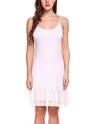 Zeagoo Women's Summer Adjustable Spaghetti Strap Chiffon Ruffle Camisole Dress